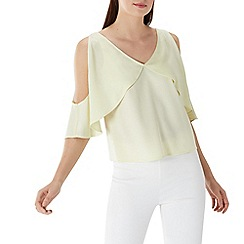 Coast - Lime yellow 'Suki' v-neck top