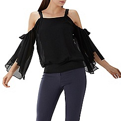 Coast - Black 'Daphne' cold shoulder top