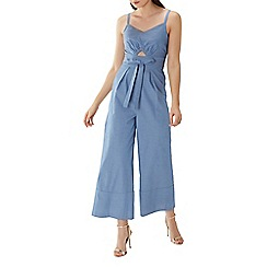 Coast - Blue 'Tatiana' wide leg cotton jumpsuit