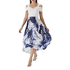 Coast - Printed 'Lira' jacquard midi dress