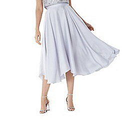 Coast - Silver 'Ella' soft midi skirt
