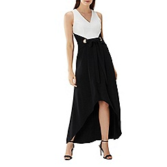 Coast - Monochrome 'Esta' hardware maxi dress
