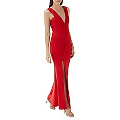 Coast - Red 'Scarlett' mesh maxi dress
