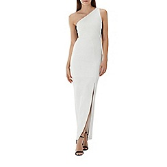 Coast - Ivory white 'Shard' one shoulder maxi dress