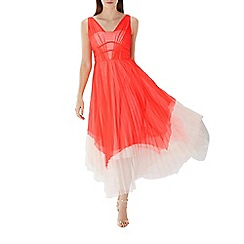 Coast - Coral 'Luca' tulle maxi dress