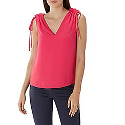 Coast - Raspberry red 'Charlie' drawstring top
