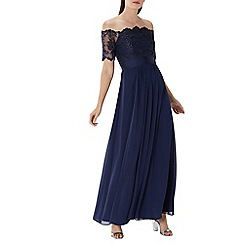 Coast - Navy 'Maddie' lace bardot maxi dress