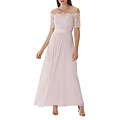 Coast - Light pink 'Maddie' lace bardot maxi dress