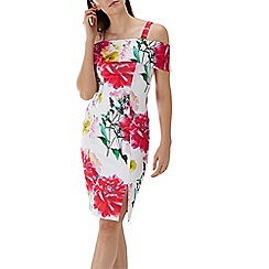 Coast - Floral print 'Denise' cold shoulder shift dress