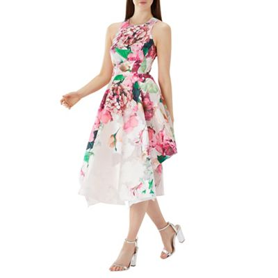 Coast   Floral Print 'erica' Jacquard Midi Dress by Coast