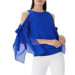 Coast - Cobalt blue 'Celeste' cold shoulder calla top