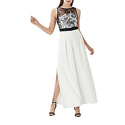 Coast - Monochrome 'Alecia' embroidered bodice jumpsuit