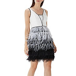 Coast - Monochrome 'Klara' feather skirt dress