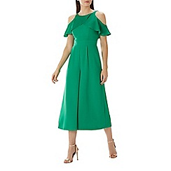 Coast - Green 'Krissie' cold shoulder jumpsuit