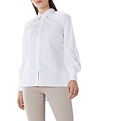 Coast - White 'Gigi' tie back shirt