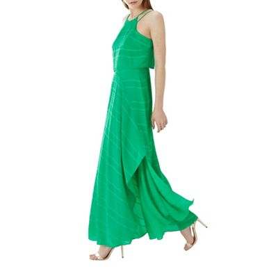 Coast   Green 'savanna' Subtle Striped Maxi Dress by Coast