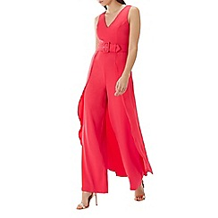 Coast - Raspberry red 'Alix' belted jumpsuit