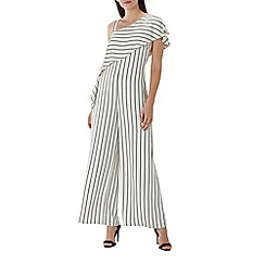 Coast - Mono stripe 'Eliza' one shoulder jumpsuit