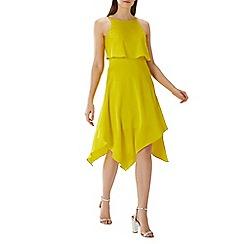 Coast - Yellow 'Bay' bow back midi dress