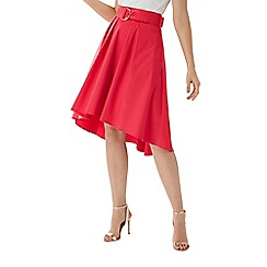Coast - Raspberry red 'Gabbi' belted cotton skirt
