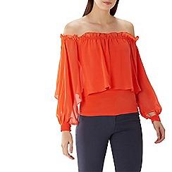 Coast - Tangerine orange 'Setri' beaded bardot top
