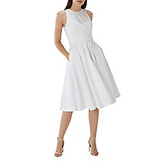 Coast - White 'Lara' cotton midi dress