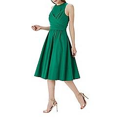 Coast - Green 'Lara' cotton full midi dress