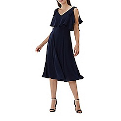 Coast - Navy 'Imana' overlay midi dress