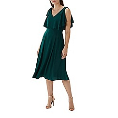 Coast - Forest green 'Imana' overlay midi dress