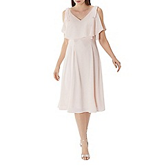 Coast - Blush pink 'Imana' overlay midi dress