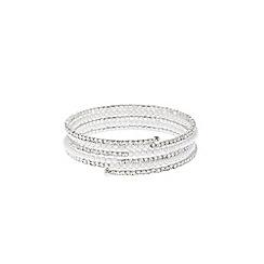 Coast - Silver 'Alma' pearl wrap bracelet