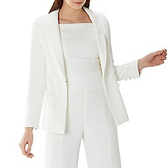 Coast - Ivory white 'Cadance' button tux jacket