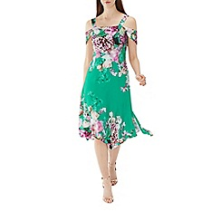 Coast - Green floral print 'Erica' soft shift dress