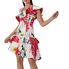 Coast - Floral print 'Denise' asymmetric full dress