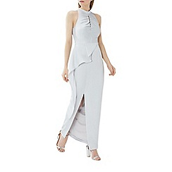 Coast - Silver 'Piertro' rouched maxi dress