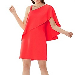 Coast - Coral red 'Caggie' overlay shift dress
