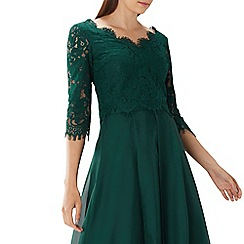 Coast - Forest green lace 'Tina' tie back top