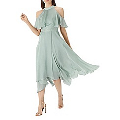 Coast - Sage green 'Charley' trim detail dress