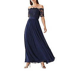 Coast - Navy 'Maddie' embroidered maxi dress