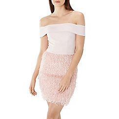 Coast - Blush pink 'Ashley' feather shift dress