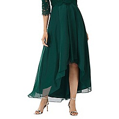 Coast - Forest green 'April' high low organza skirt