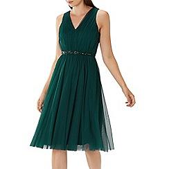 Coast - Forest green 'Lucinda' embellished tulle dress