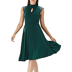 Coast - Forest green 'Aeara' jersey midi dress
