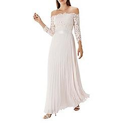 Coast - Blush pink 'Imi' lace bardot maxi dress