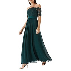 Coast - Forest green 'Maddie' embroidered maxi dress