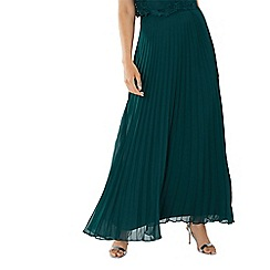 Coast - Forest green 'Imi' pleated maxi skirt