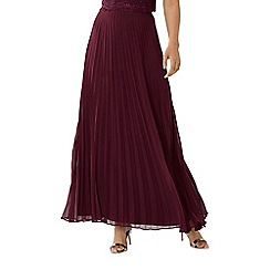 Coast - Purple merlot 'Imi' pleated maxi skirt