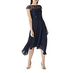 Coast - Navy 'Jade' embroidered bodice dress