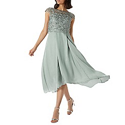 Coast - Sage green 'Jade' embroidered bodice dress