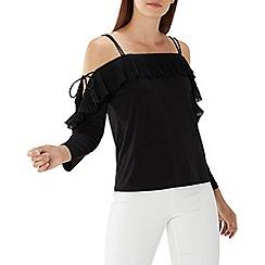 Coast - Black 'Sylvie' pleated cold shoulder top